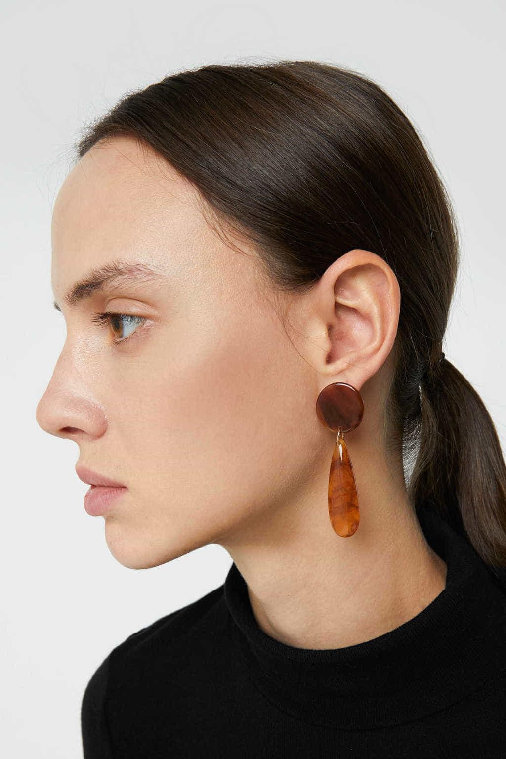 Earring H012 Brown 2