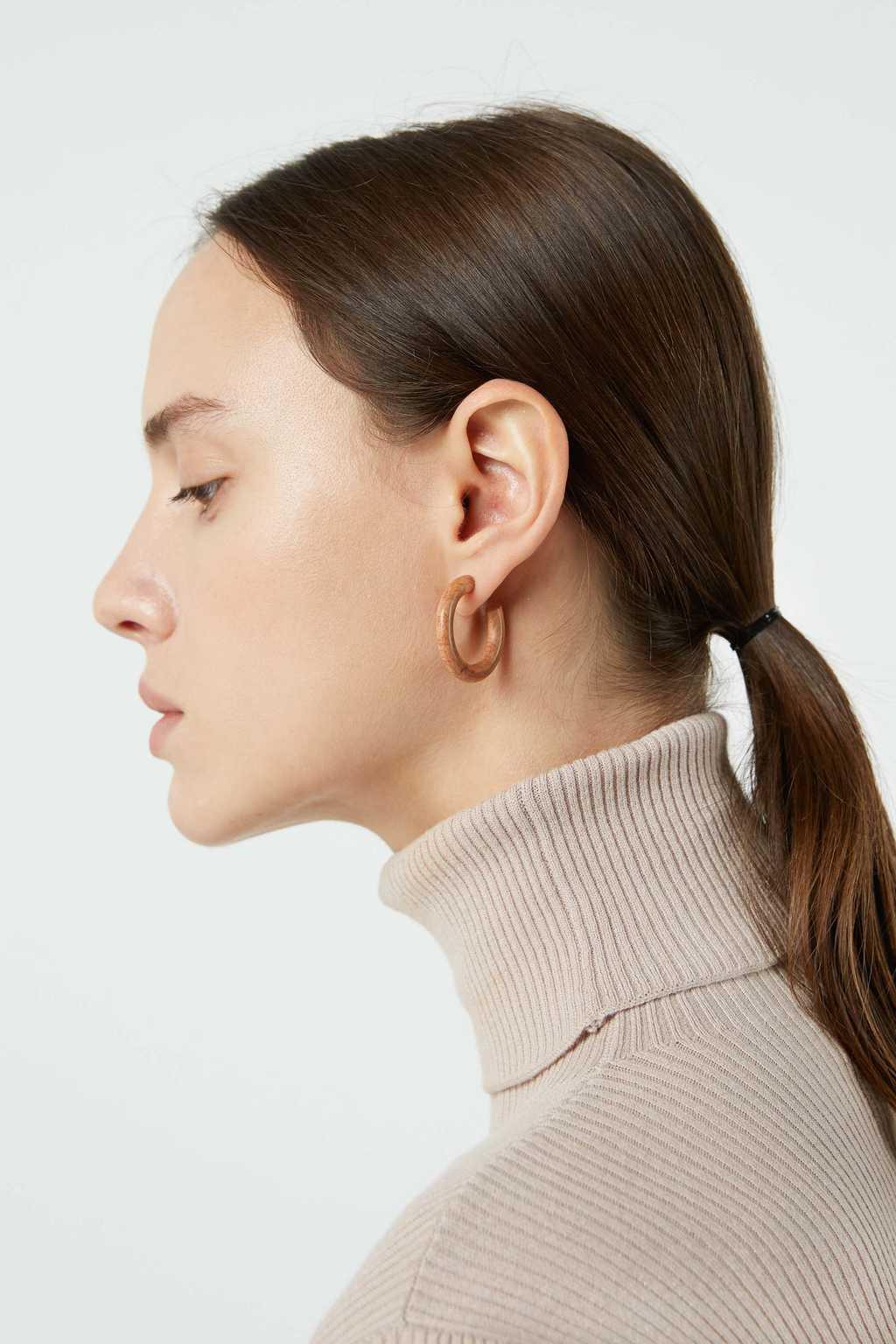 Earring H015 Brown 1