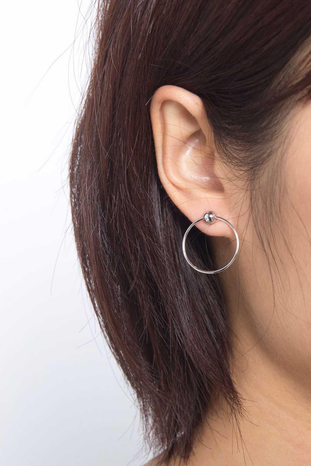 Earring H042 Silver 2
