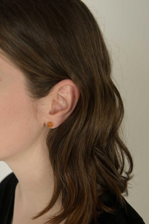 Earring H065 Brown 2