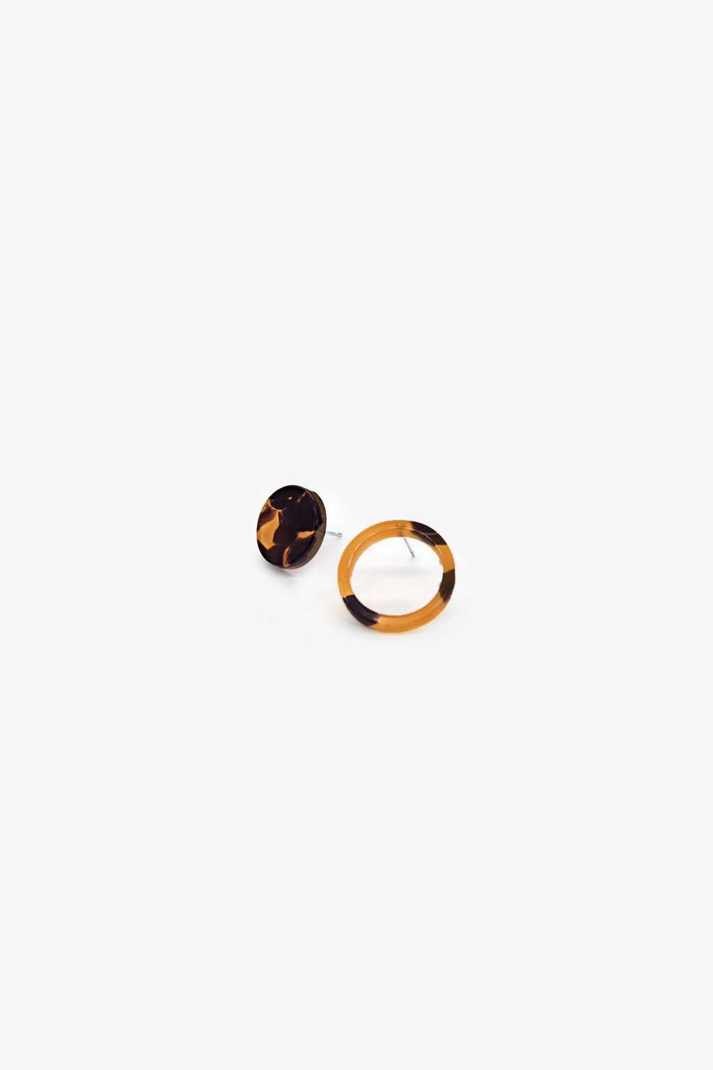 Earring H069 Brown 1
