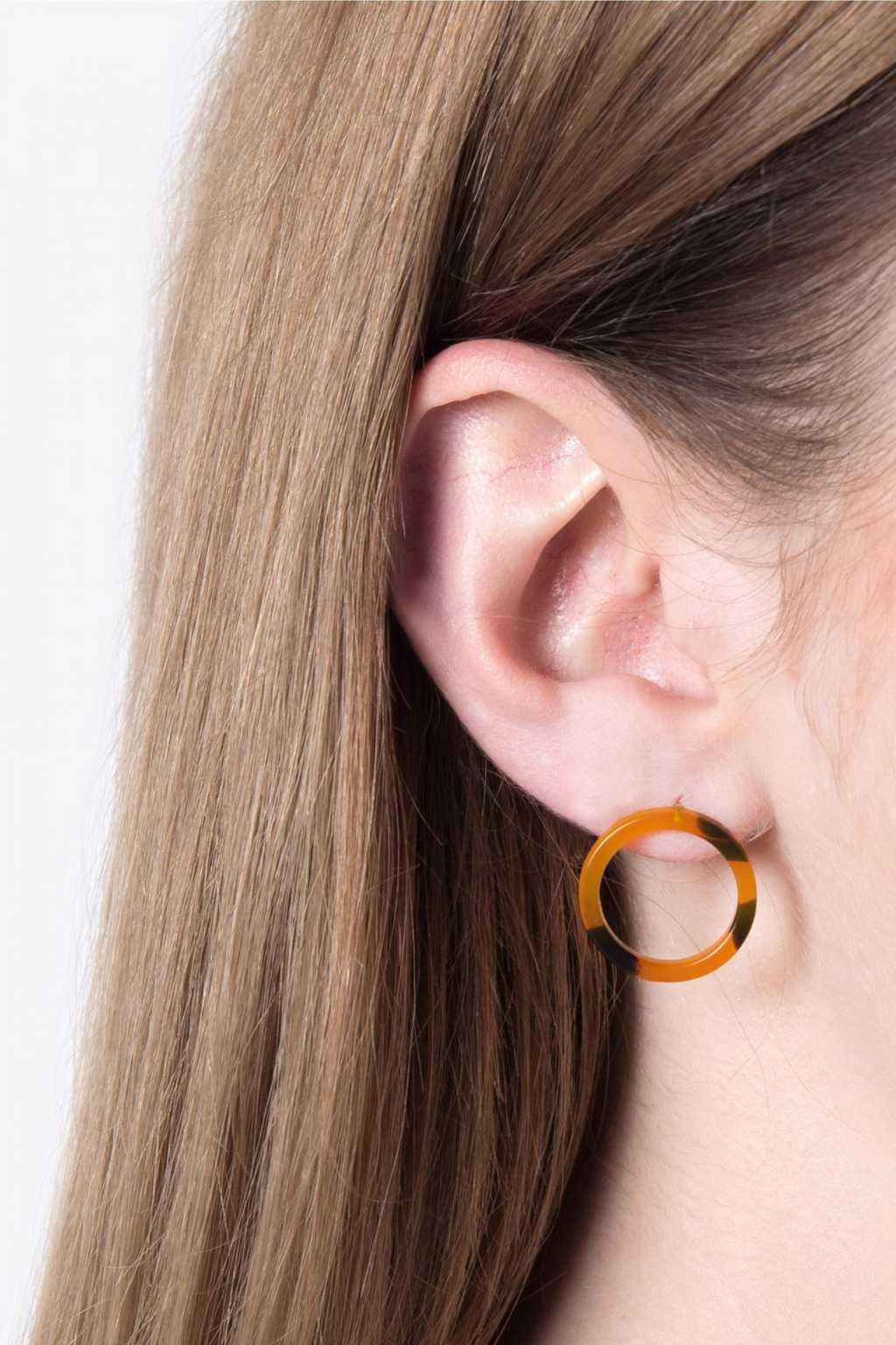 Earring H069 Brown 2