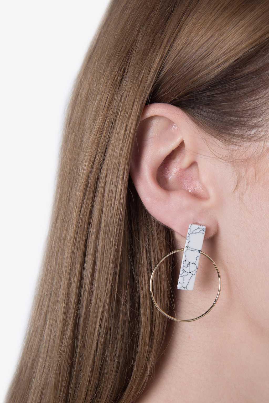 Earring H071 White 2