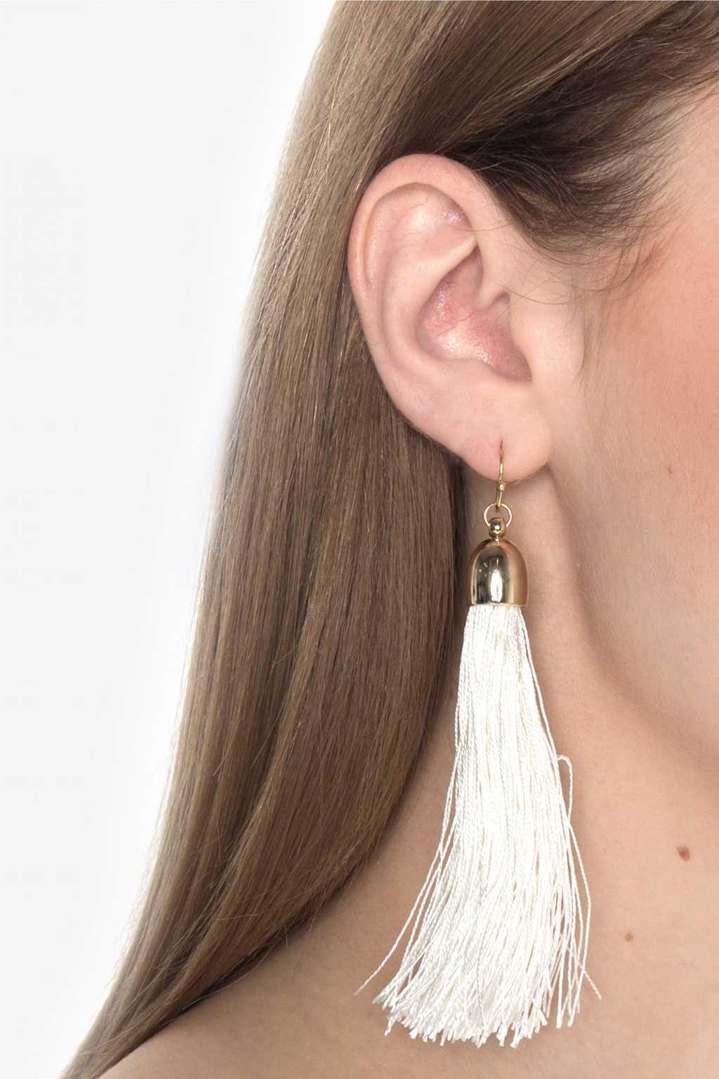 Earring H075 White 1
