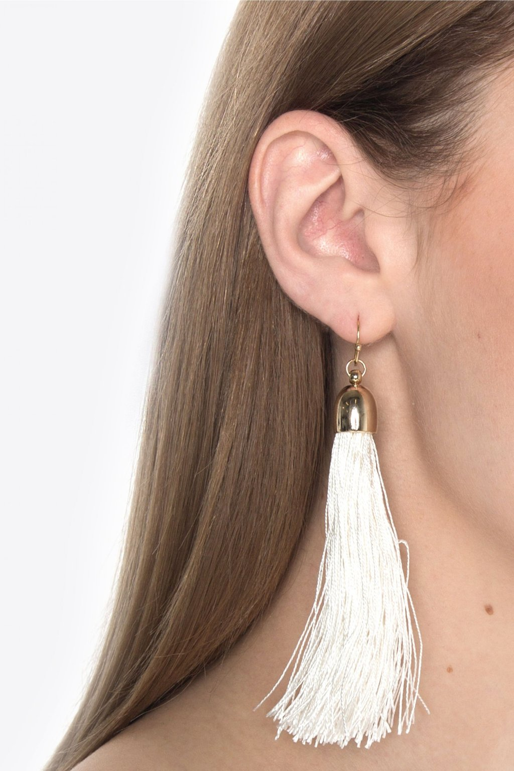 Earring H075 White 3