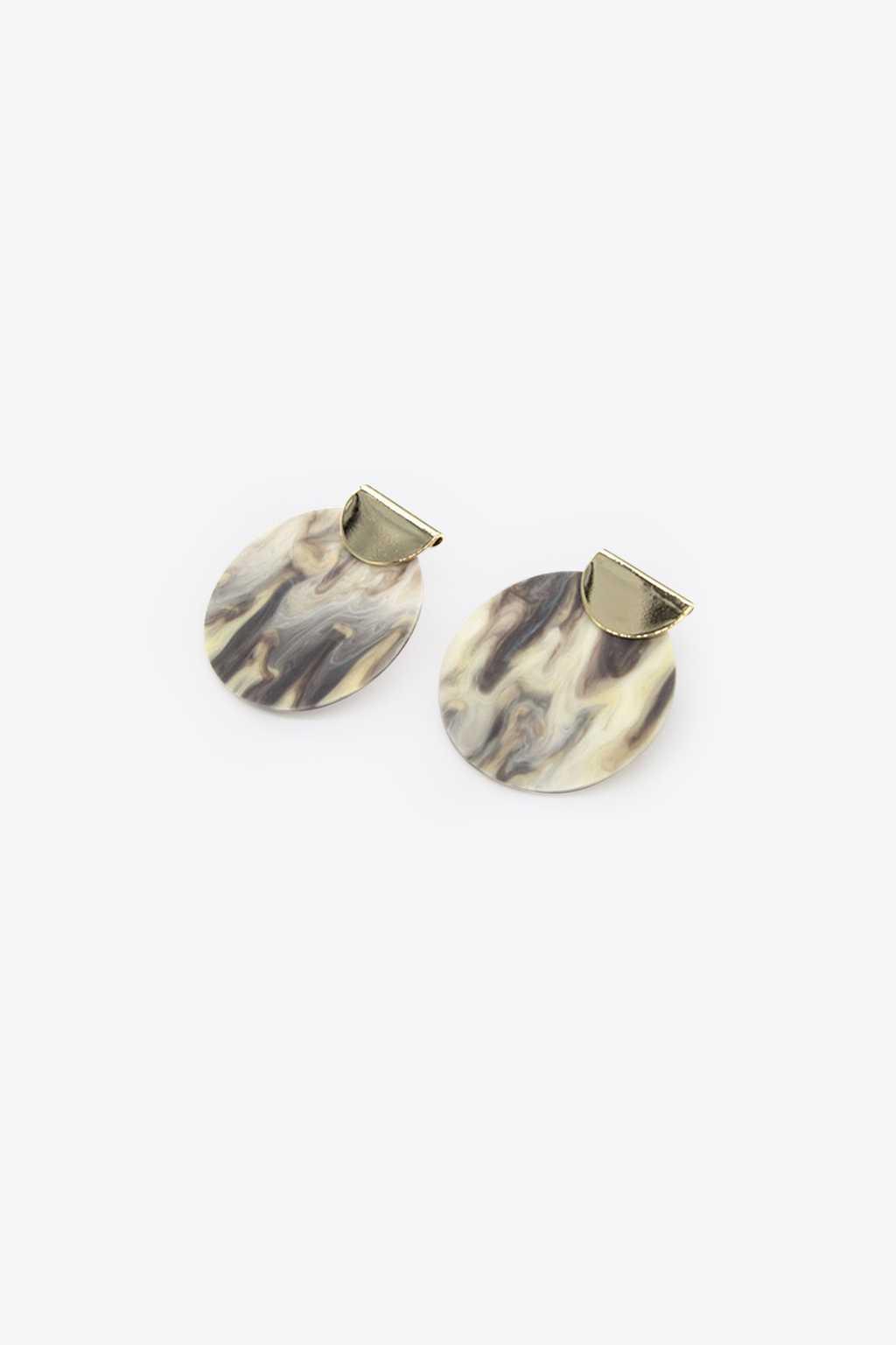 Earring H076 Gray 1