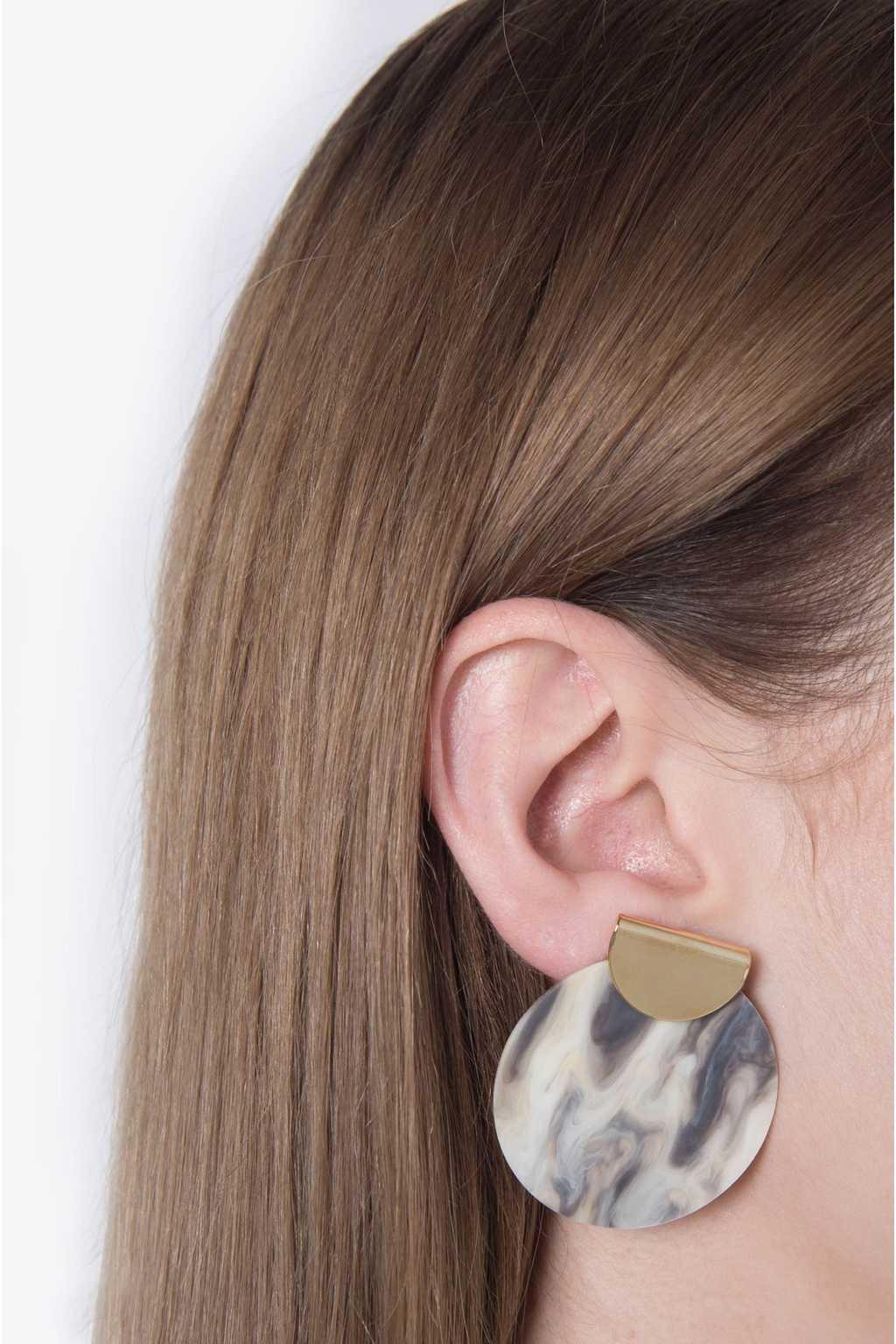 Earring H076 Gray 2