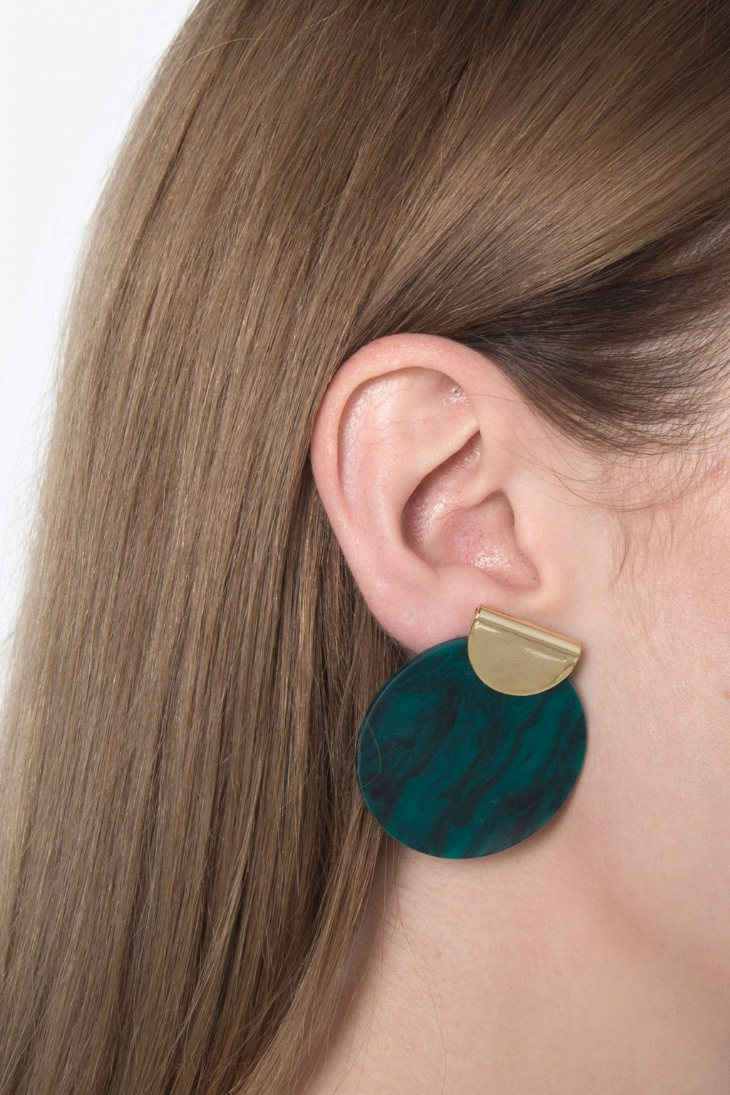Earring H076 Olive 4