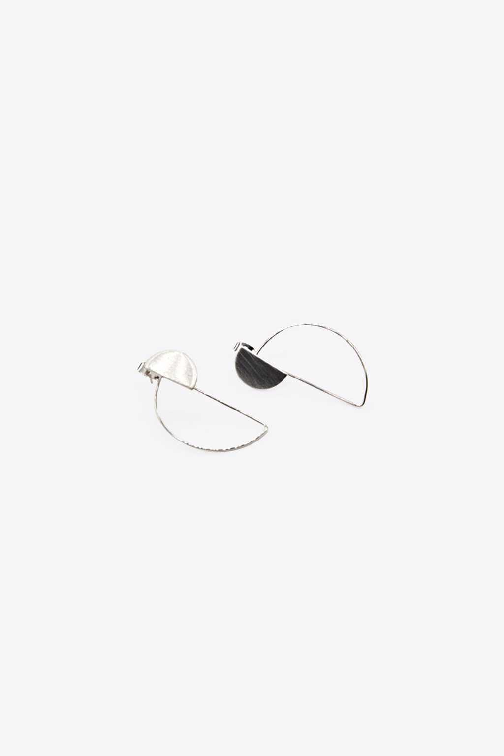 Earring H078 Silver 1