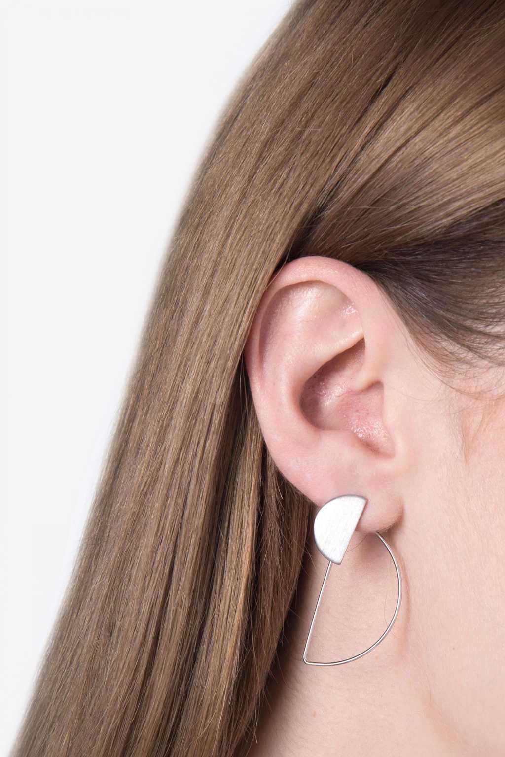 Earring H078 Silver 3