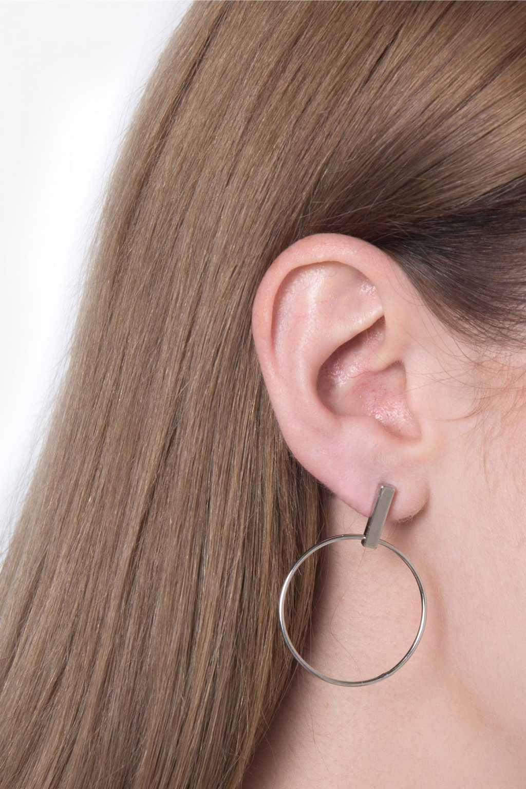 Earring H087 Silver 3