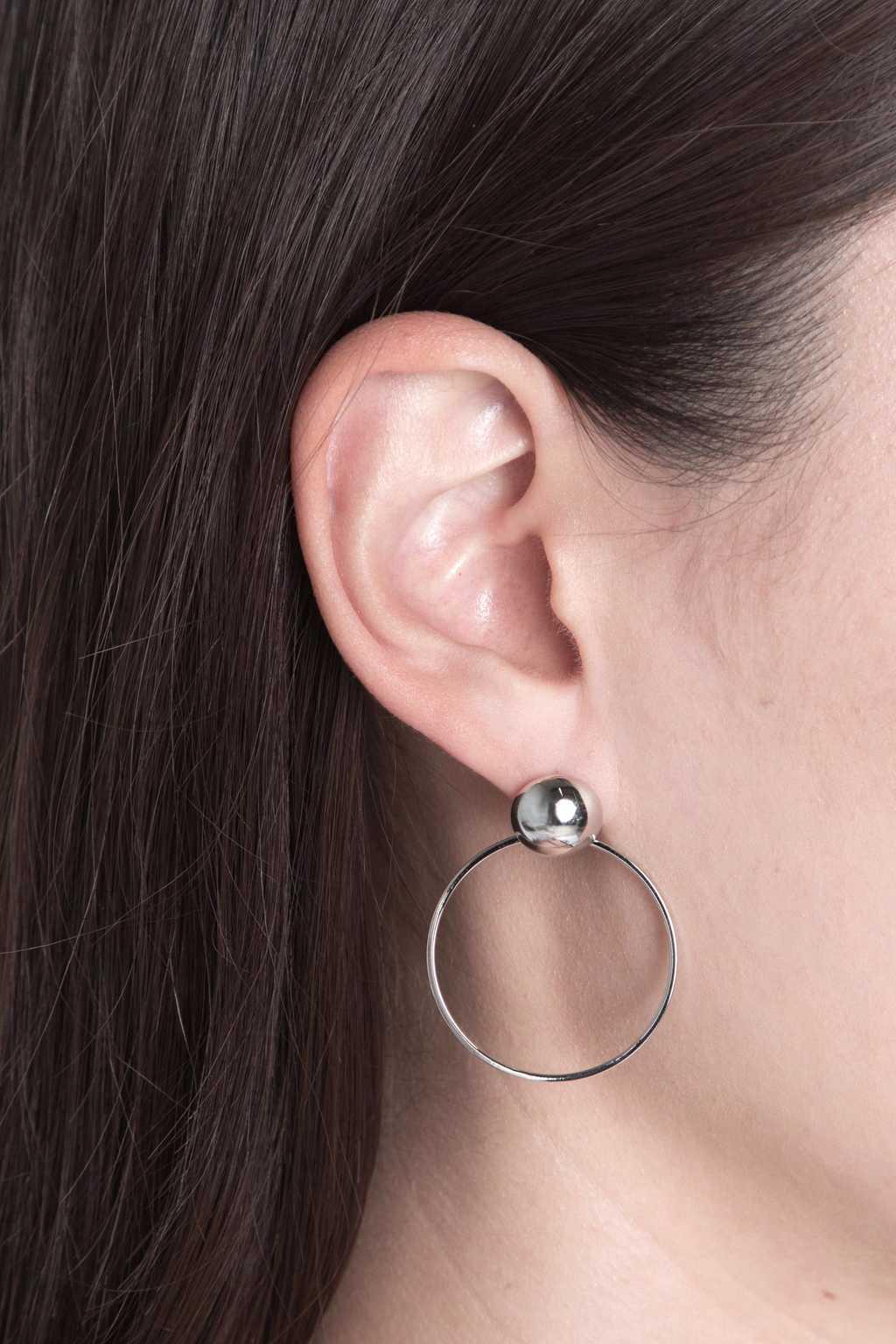 Earring H104 Silver 4