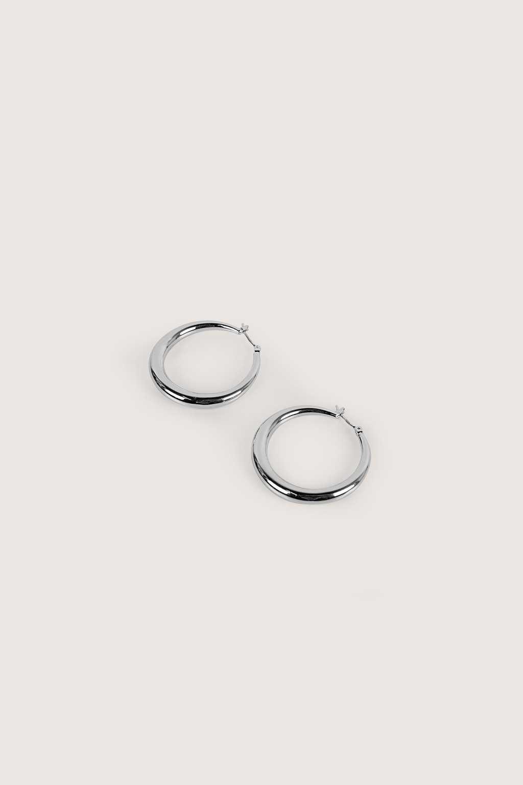 Earring H132 Silver 1