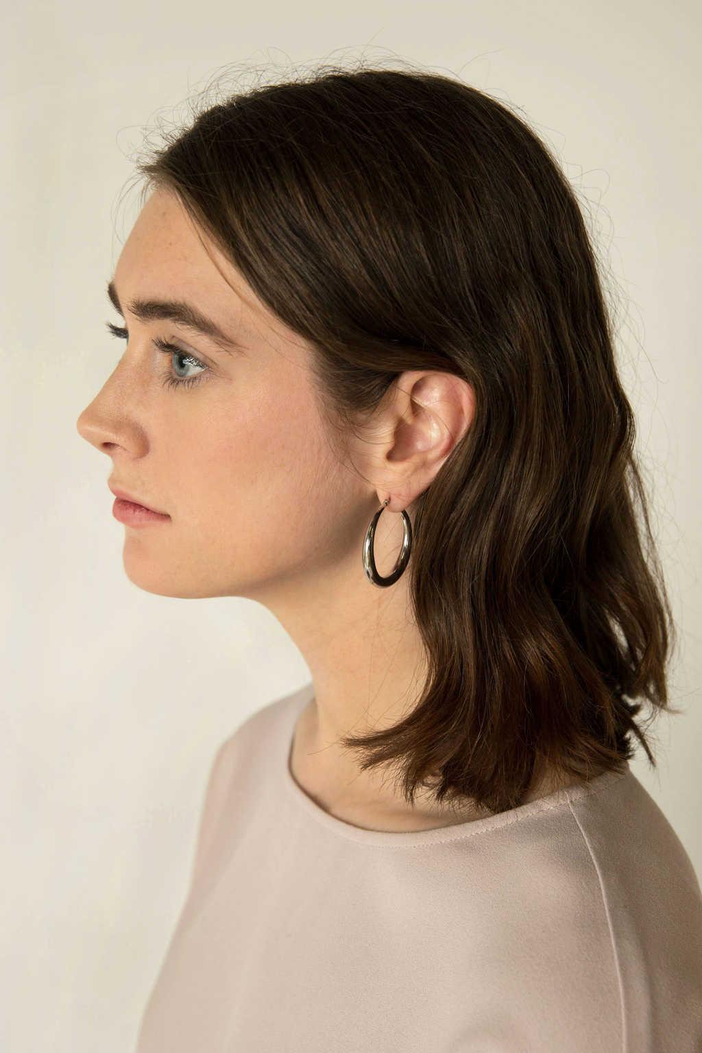 Earring H132 Silver 2
