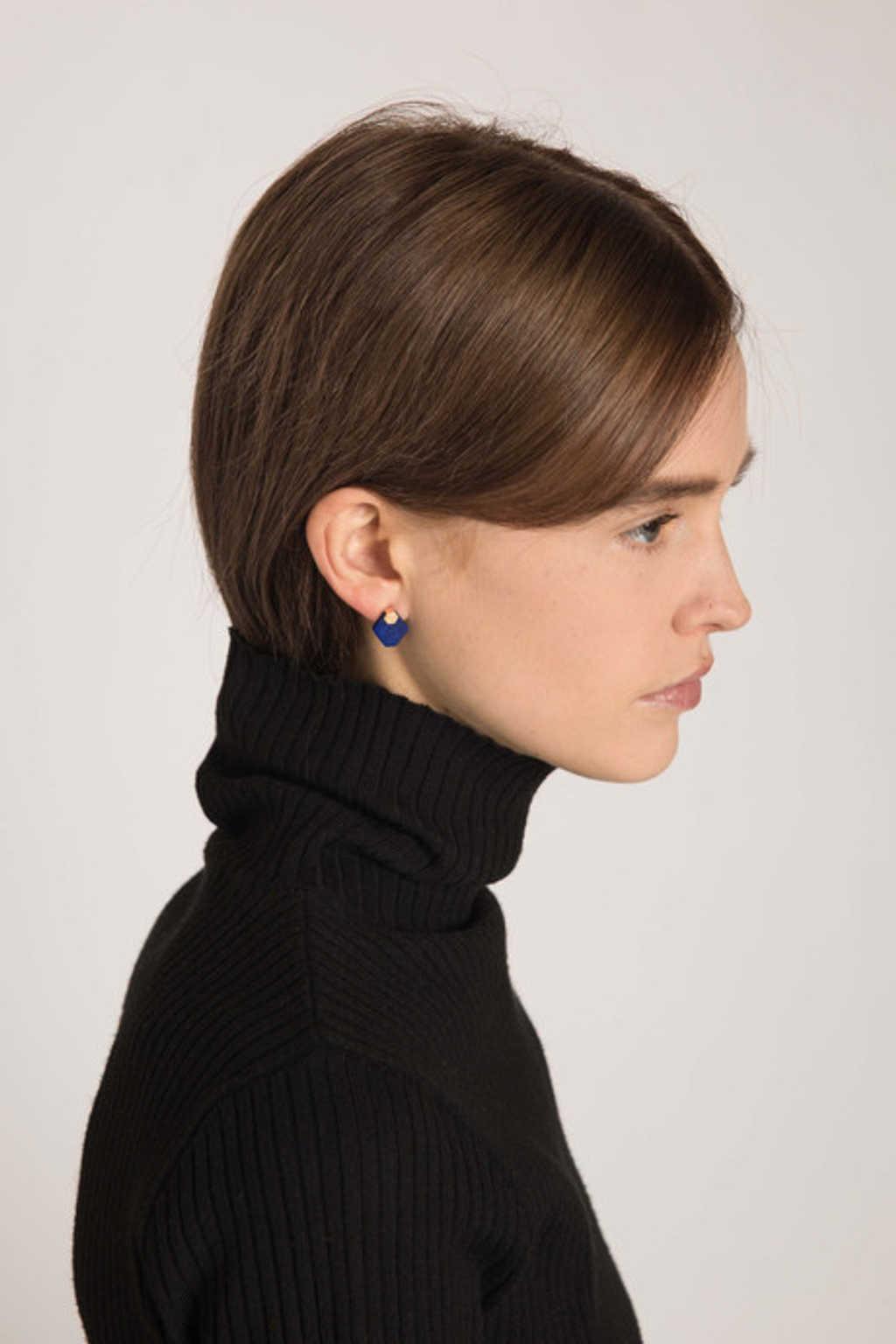Earring H209 Navy 20
