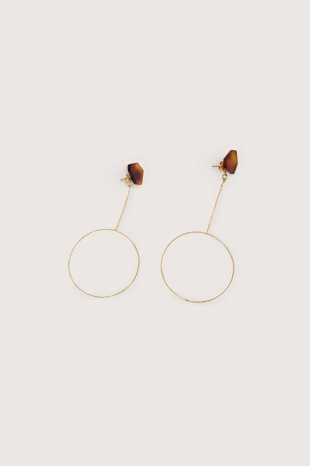 Earring H221 Brown 1