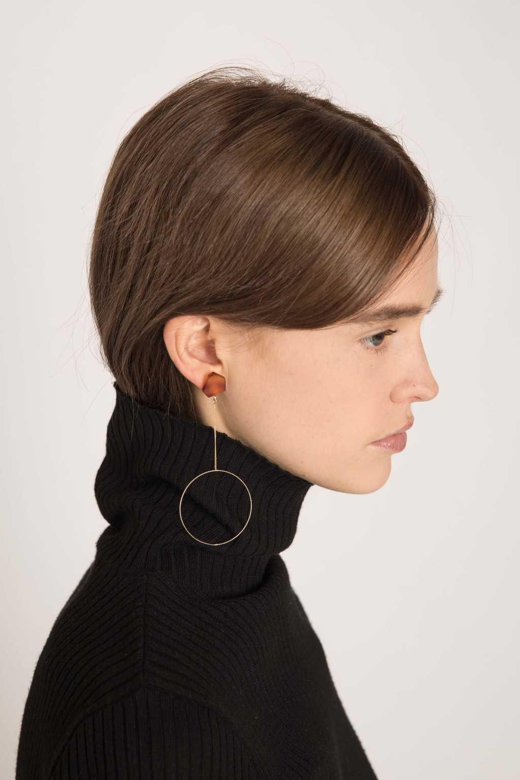 Earring H221 Brown 20