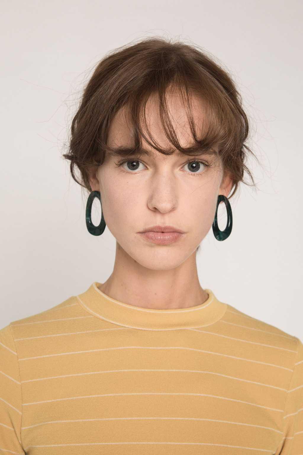 Earring H228 Green 2