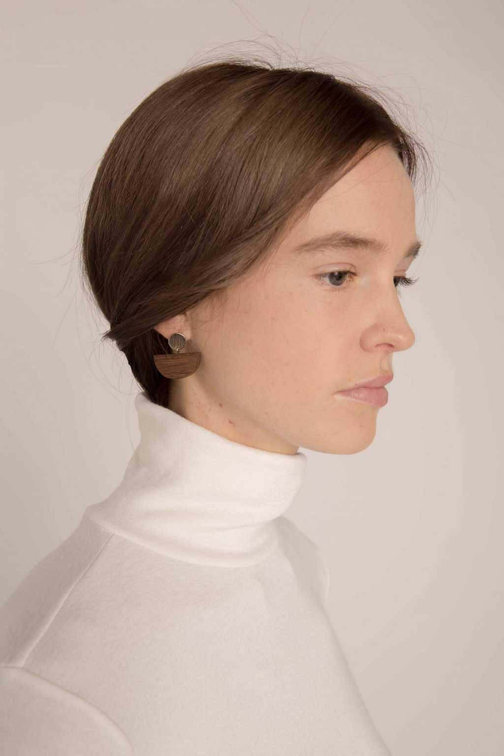 Earring H234 Brown 3