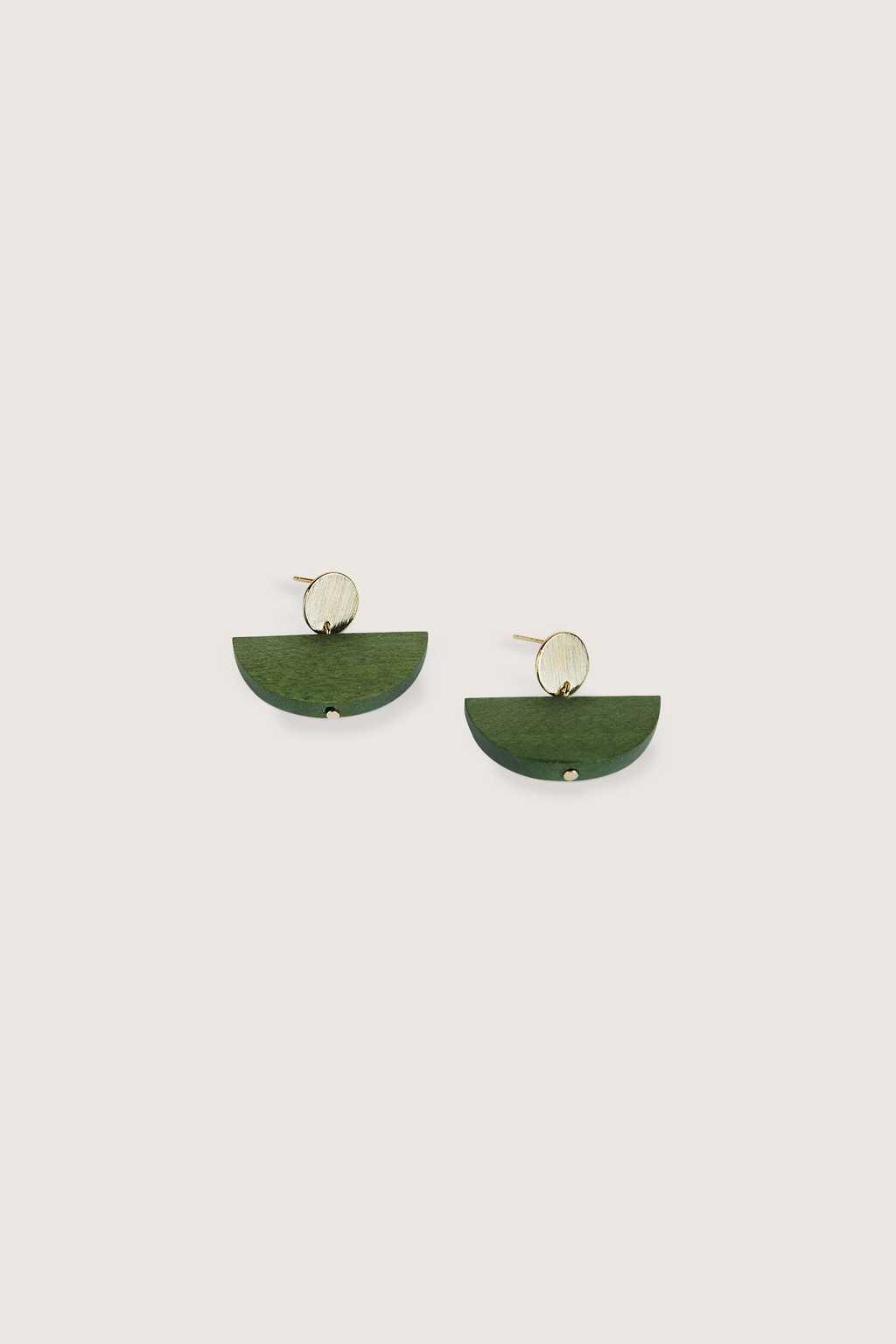 Earring H234 Green 2