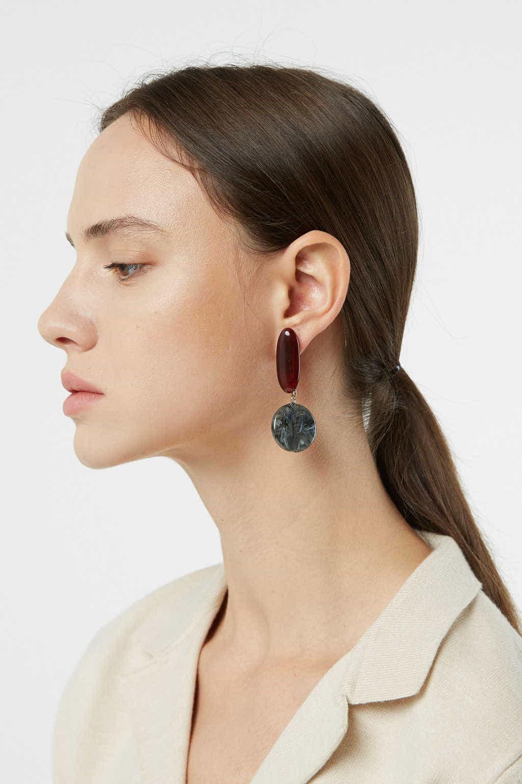 Earring H379 Black 2