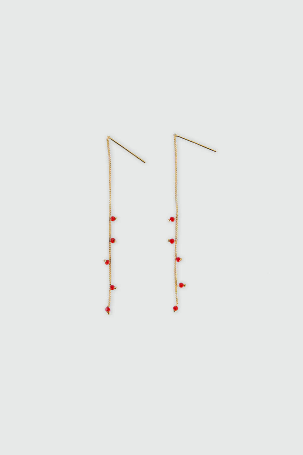 Earring H403 Red 3