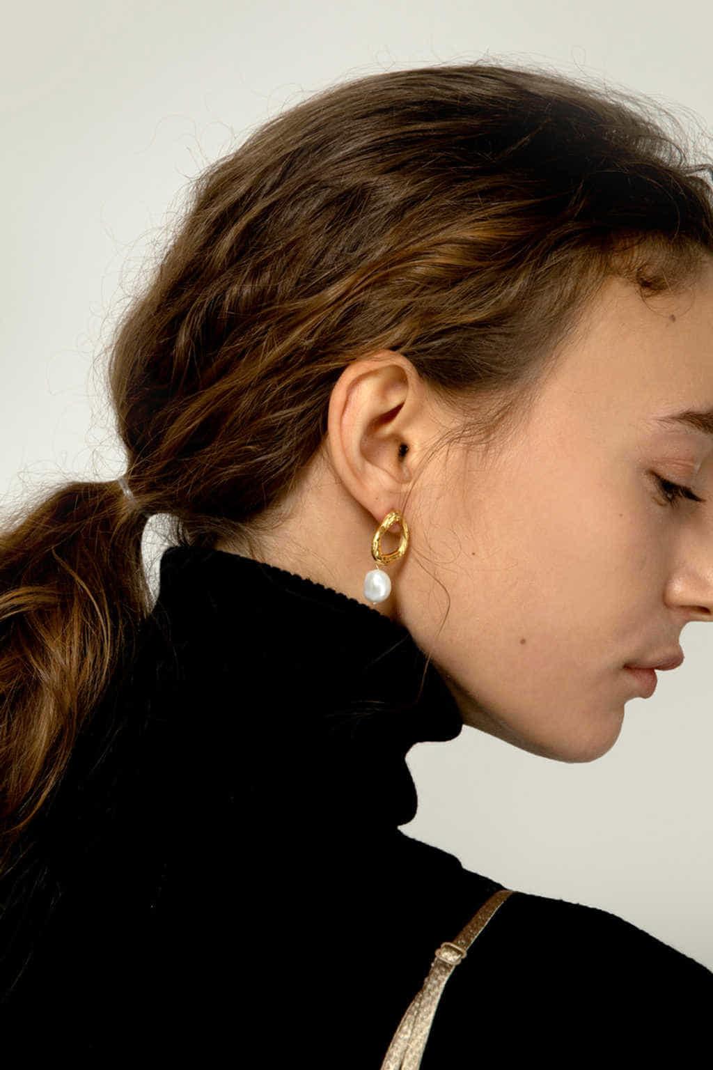 Earring J005 Gold 3