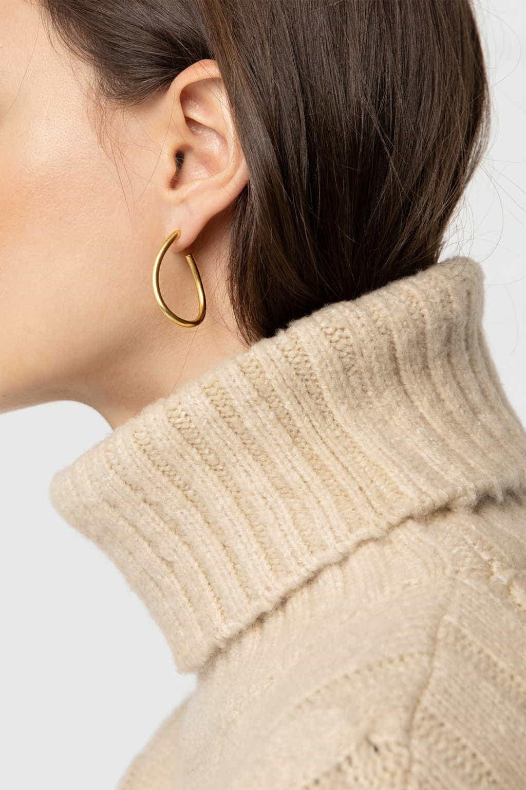 Earring J014 Gold 3