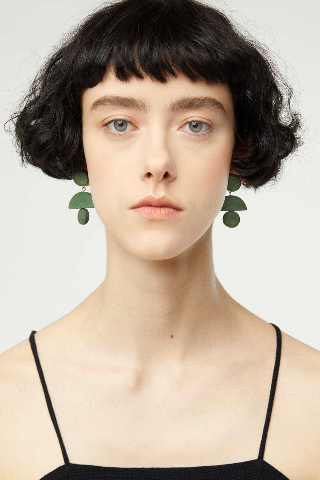 Earring K001 Green 4