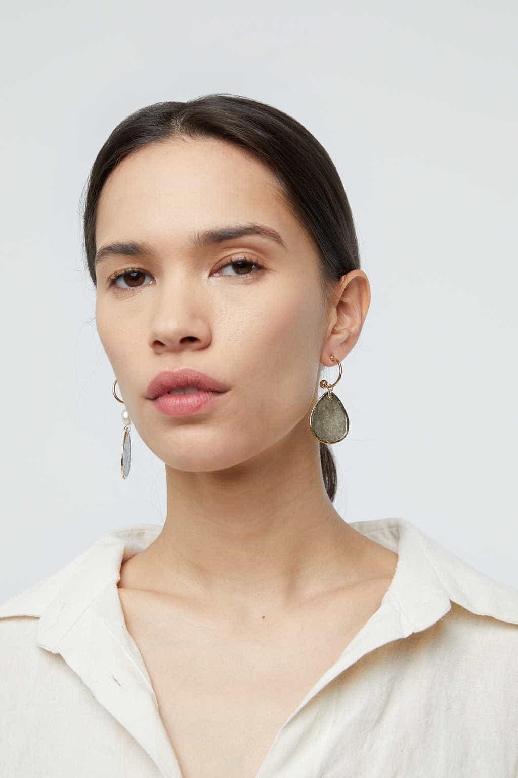 Earring K006 Gray 2