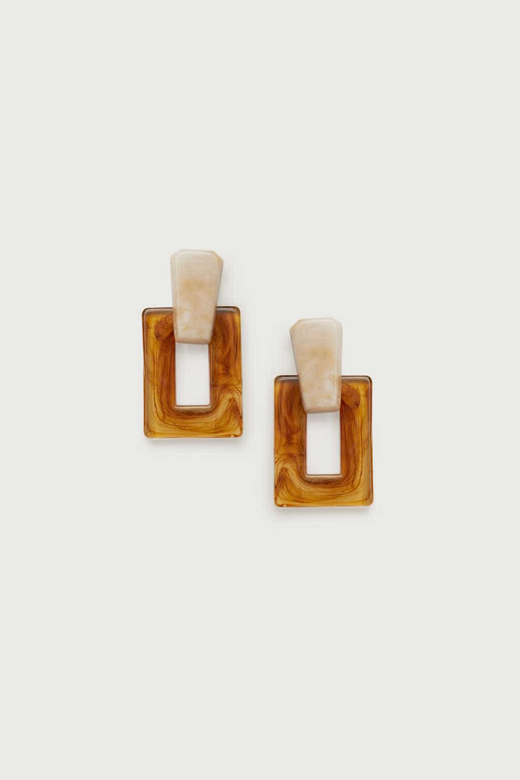 Earring K009 Brown 2