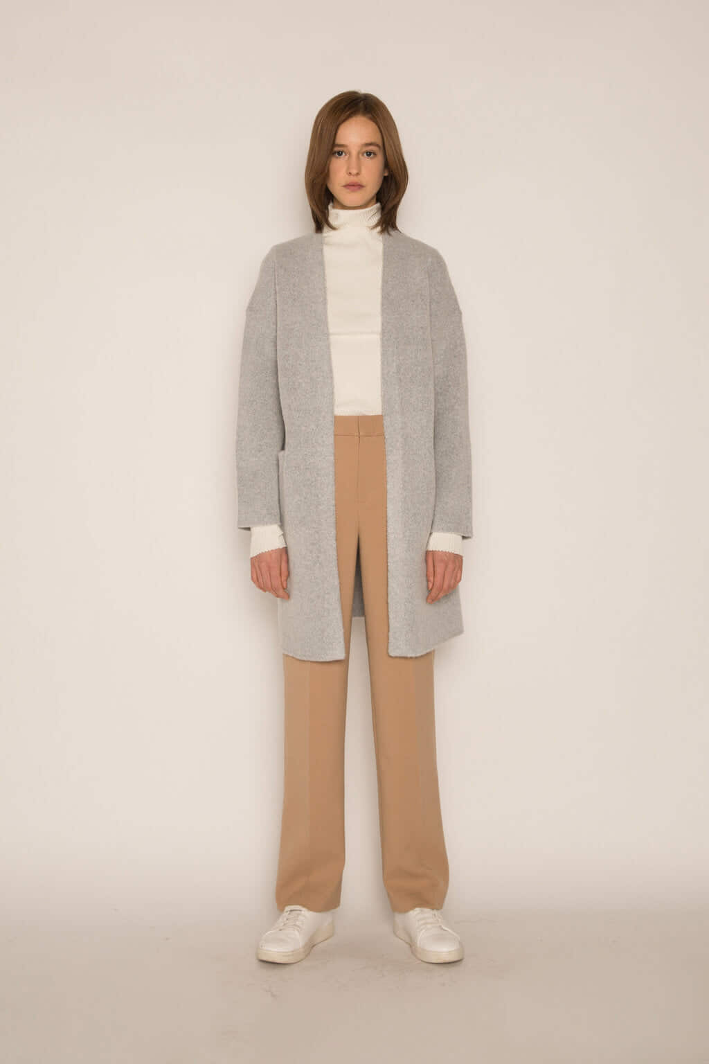 Feather Cardigan 1550 Gray 1