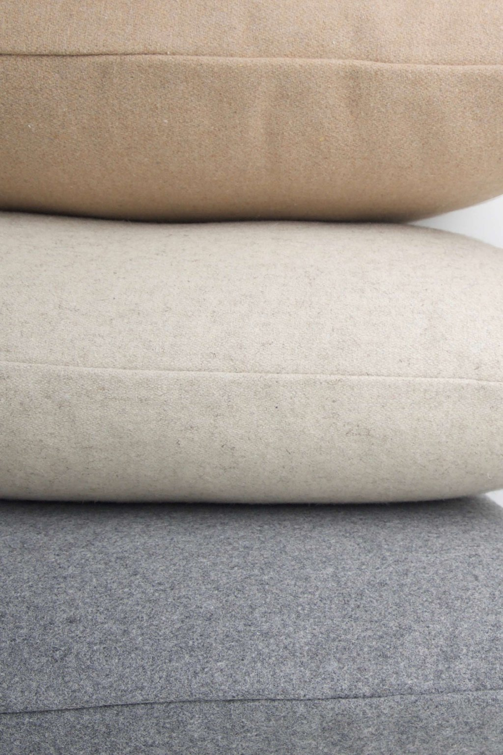 Felt Throw Pillow 2336 Oatmeal 5