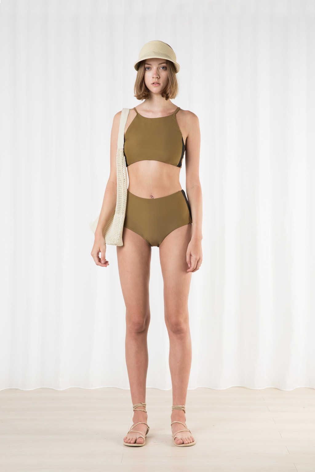 High Waist Bikini Bottom 2205 Olive 1