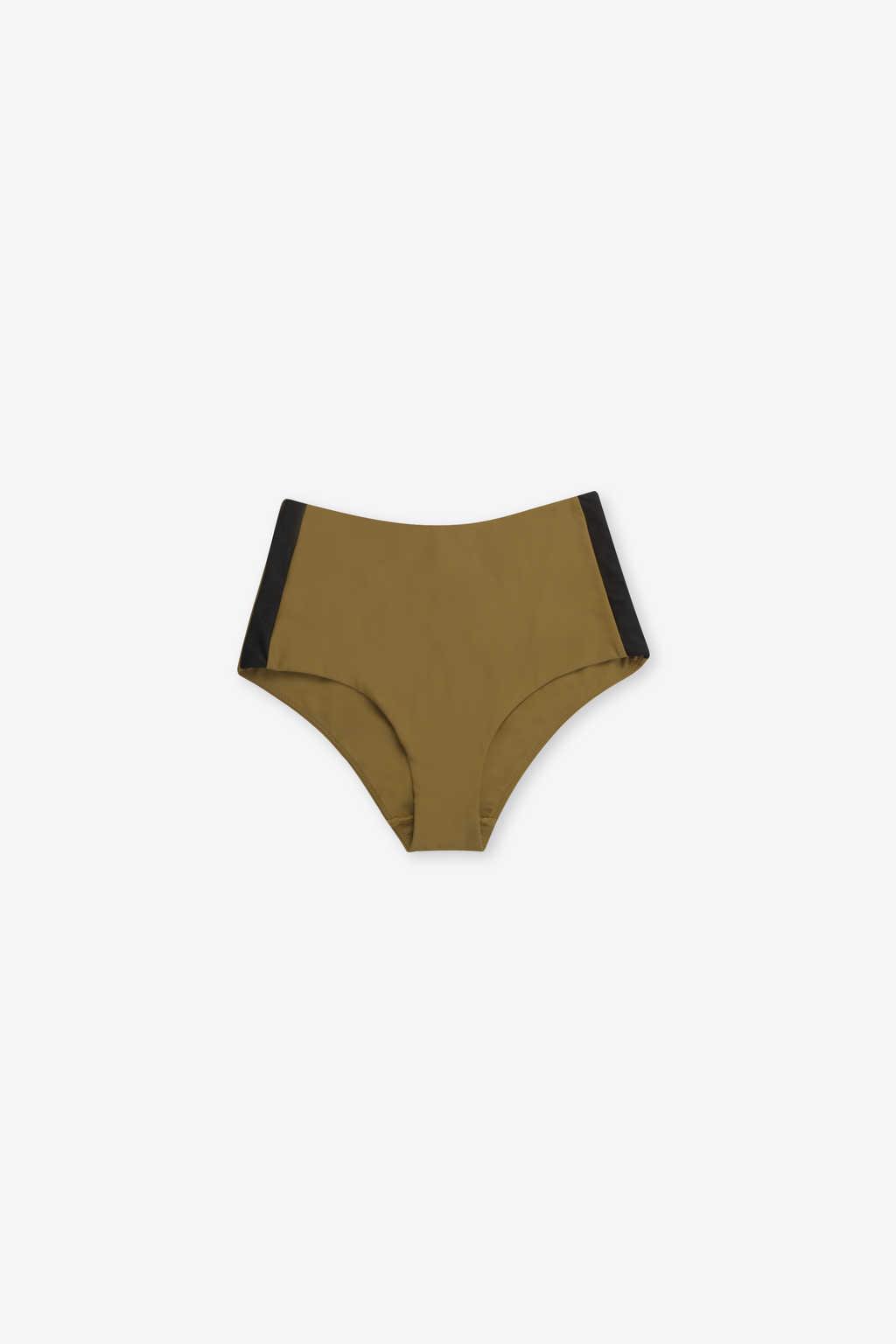 High Waist Bikini Bottom 2205 Olive 4