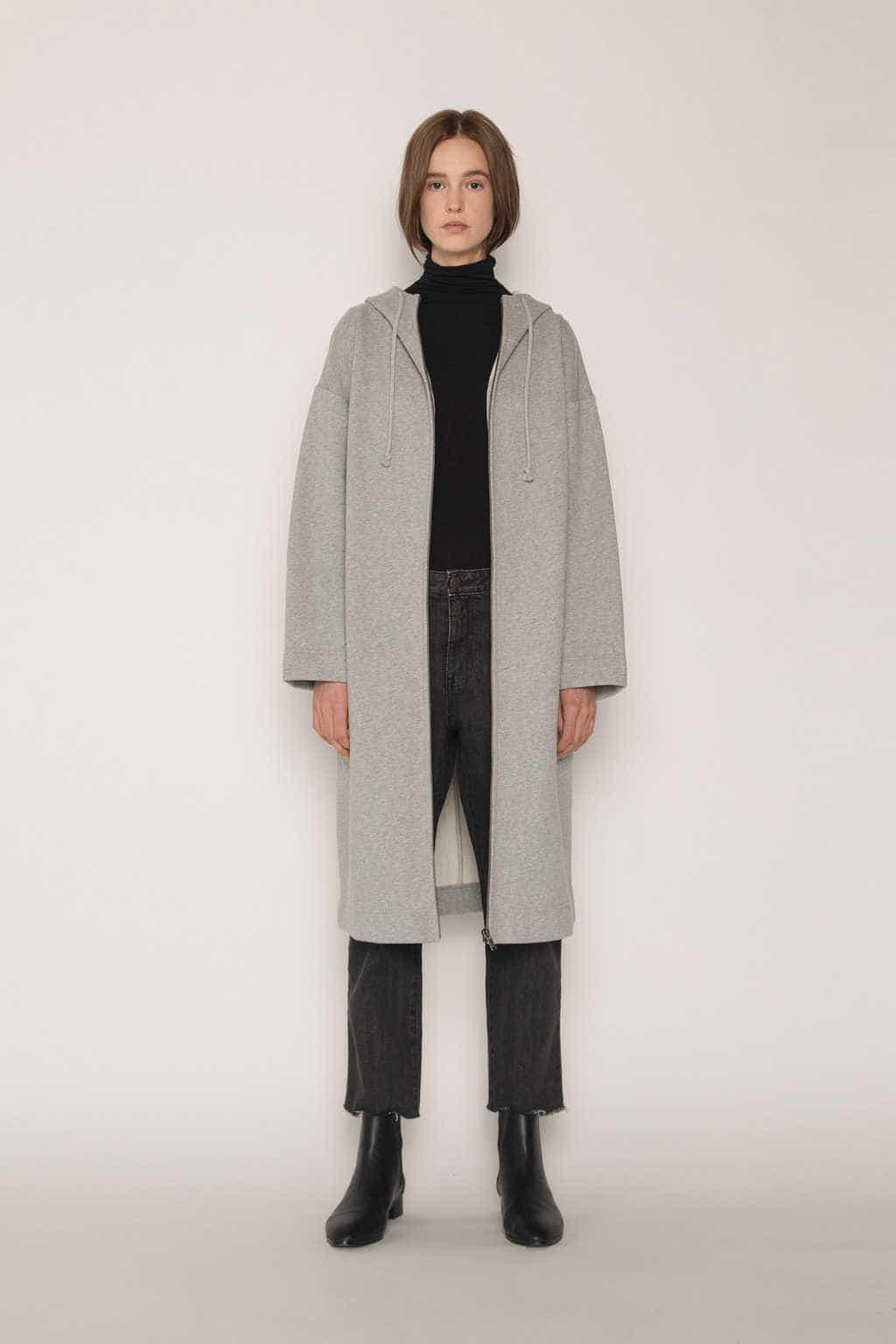 Hoodie Dress 1659 Gray 1
