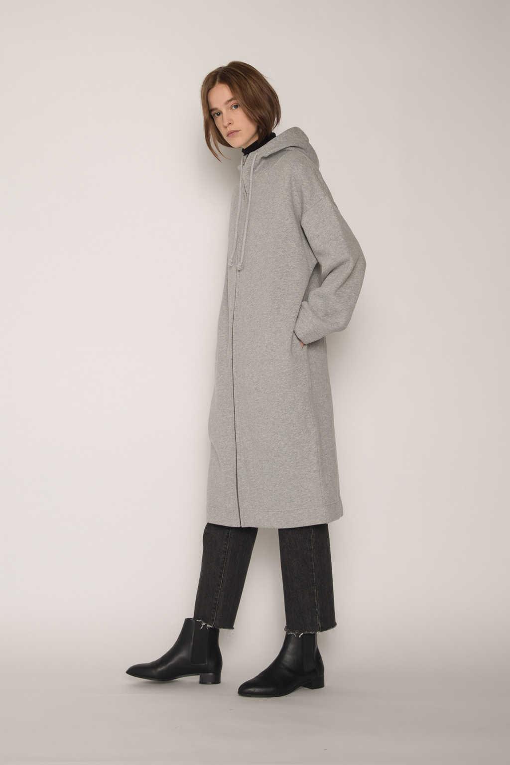 Hoodie Dress 1659 Gray 2