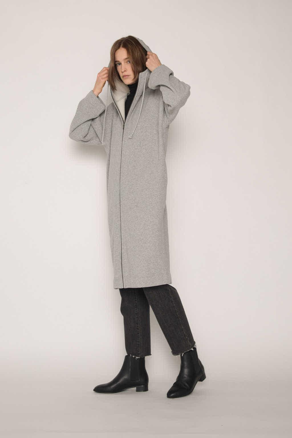 Hoodie Dress 1659 Gray 3