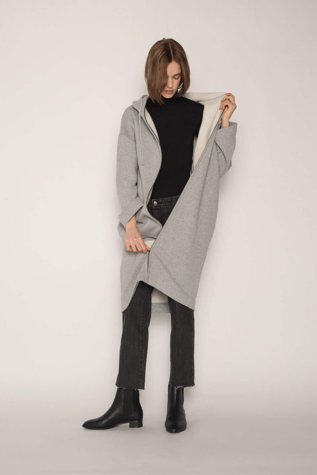 Hoodie Dress 1659 Gray 4