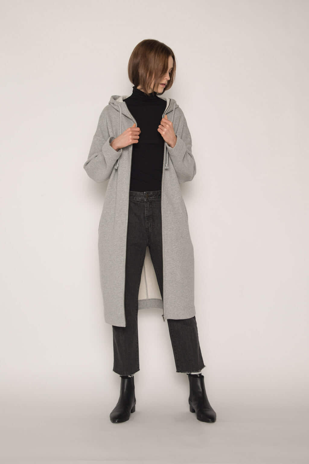 Hoodie Dress 1659 Gray 5
