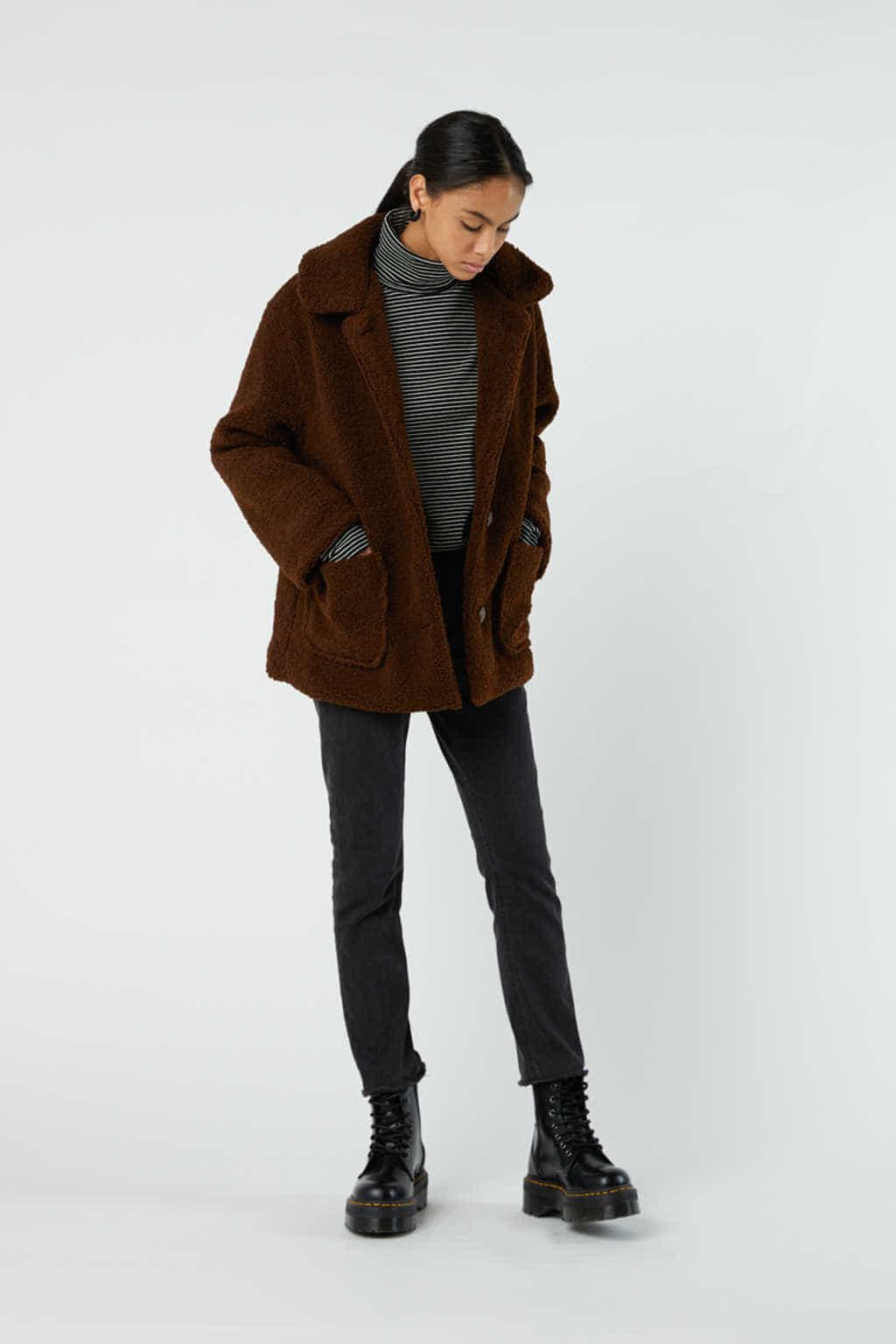 Jacket J001K Brown 3
