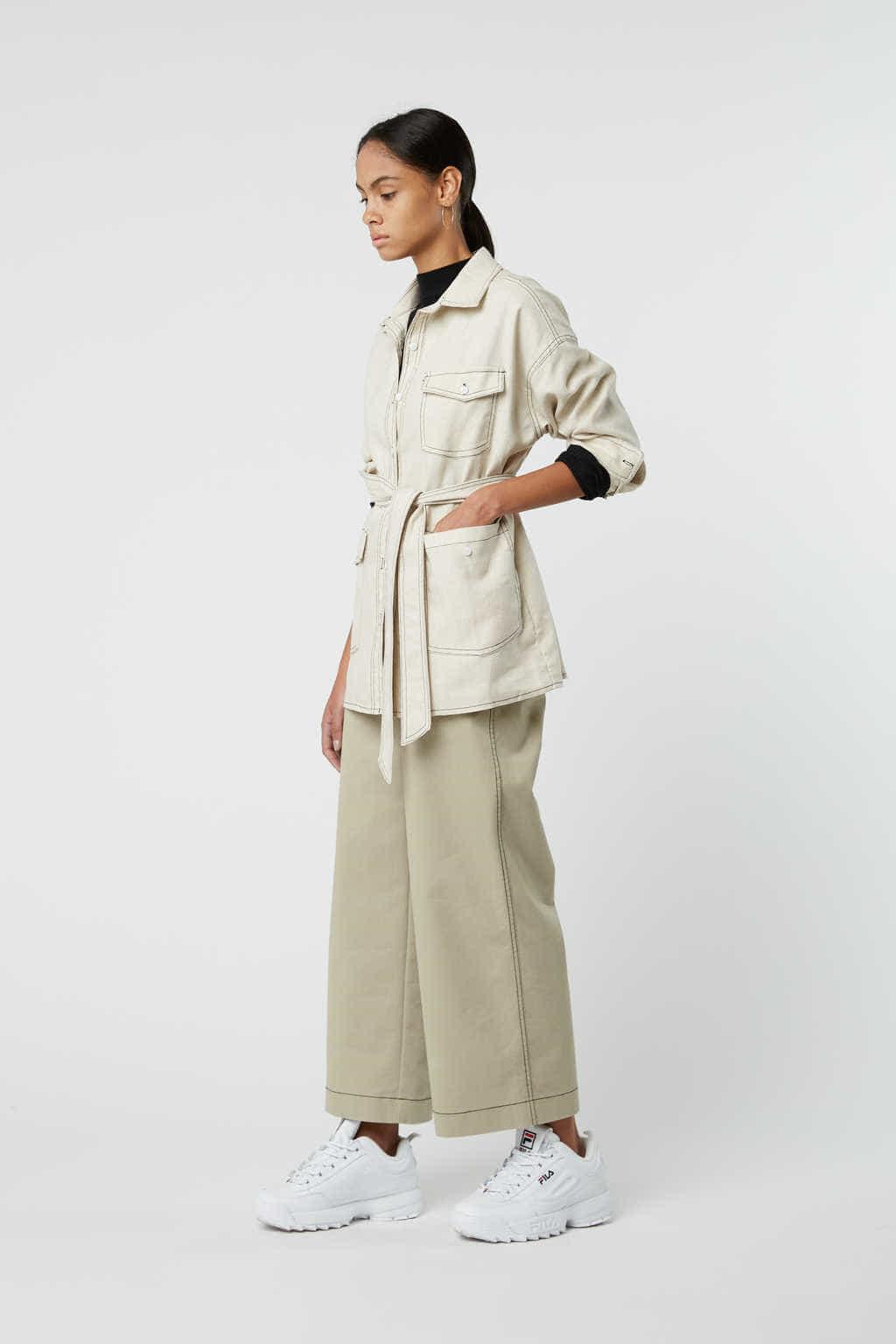 Jacket J001 White 3