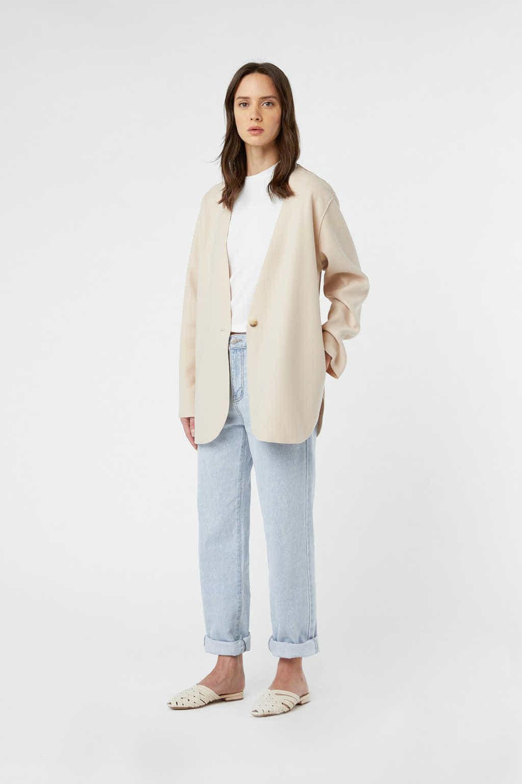 Jacket J009 Cream 1