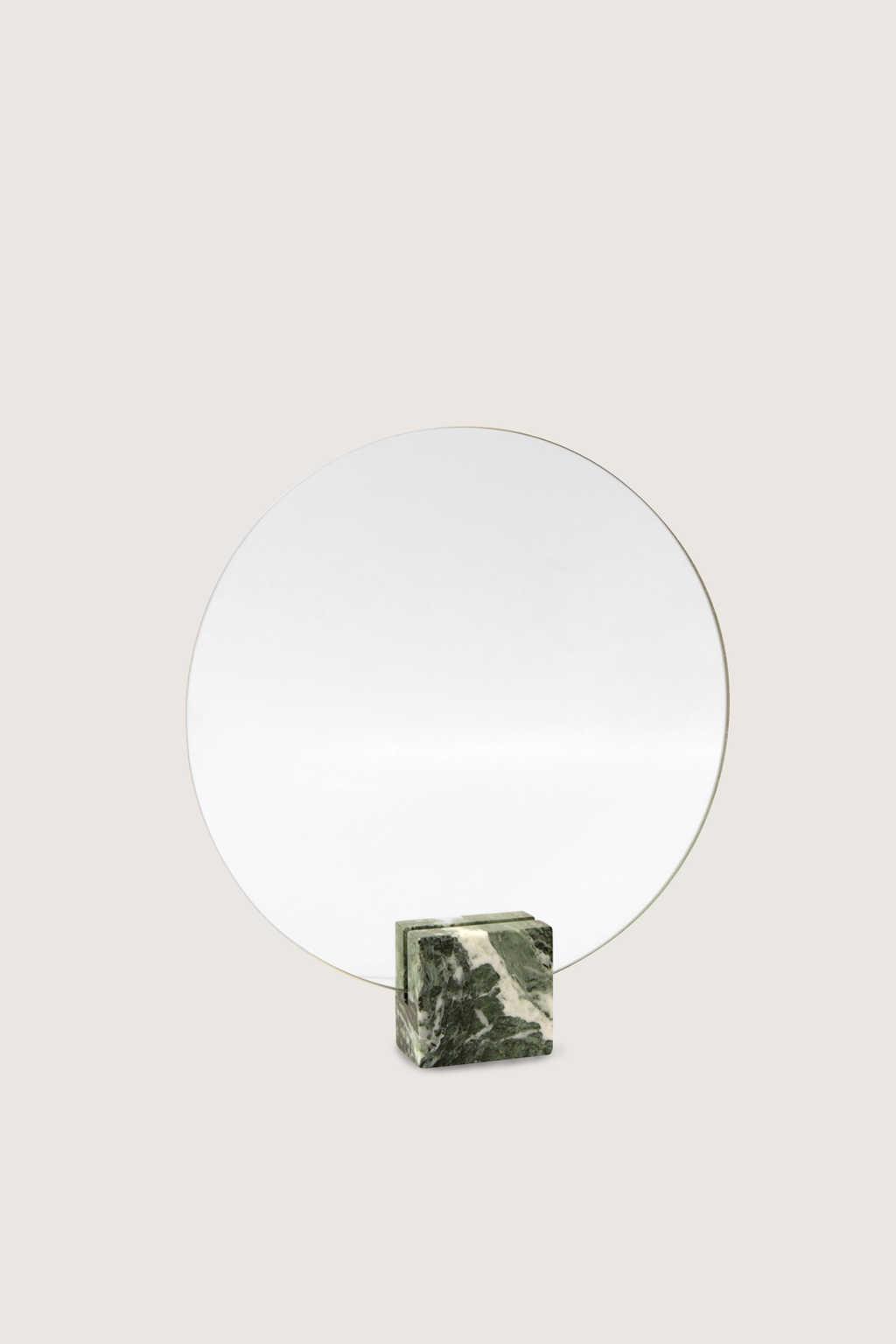 Marbled Round Mirror 1874 Green 1