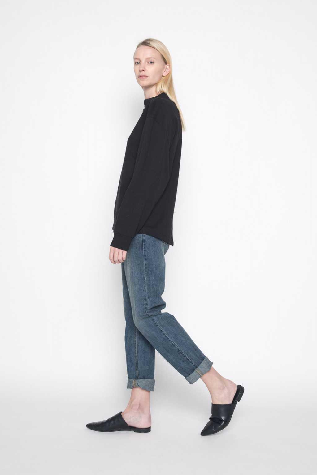 Mock Neck Sweater 1004 Black 3