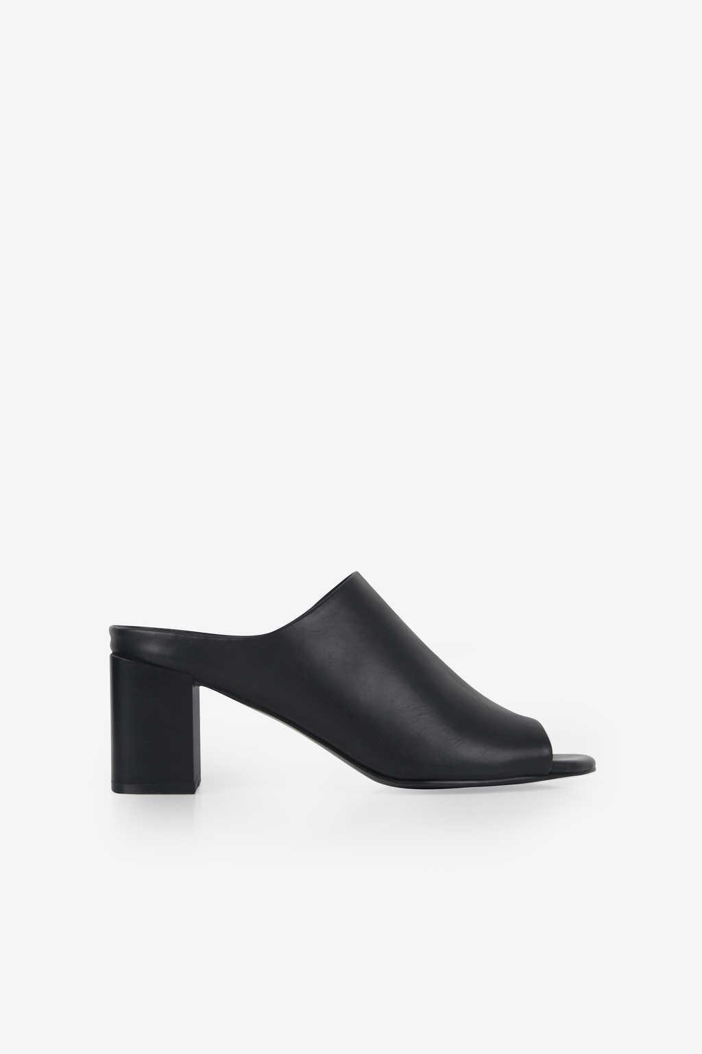 Open Toe Mule 1271 Black 1