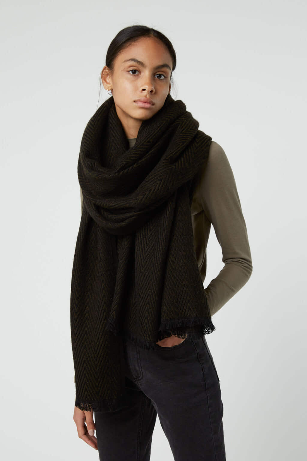 Scarf 3144 Black Mix 1