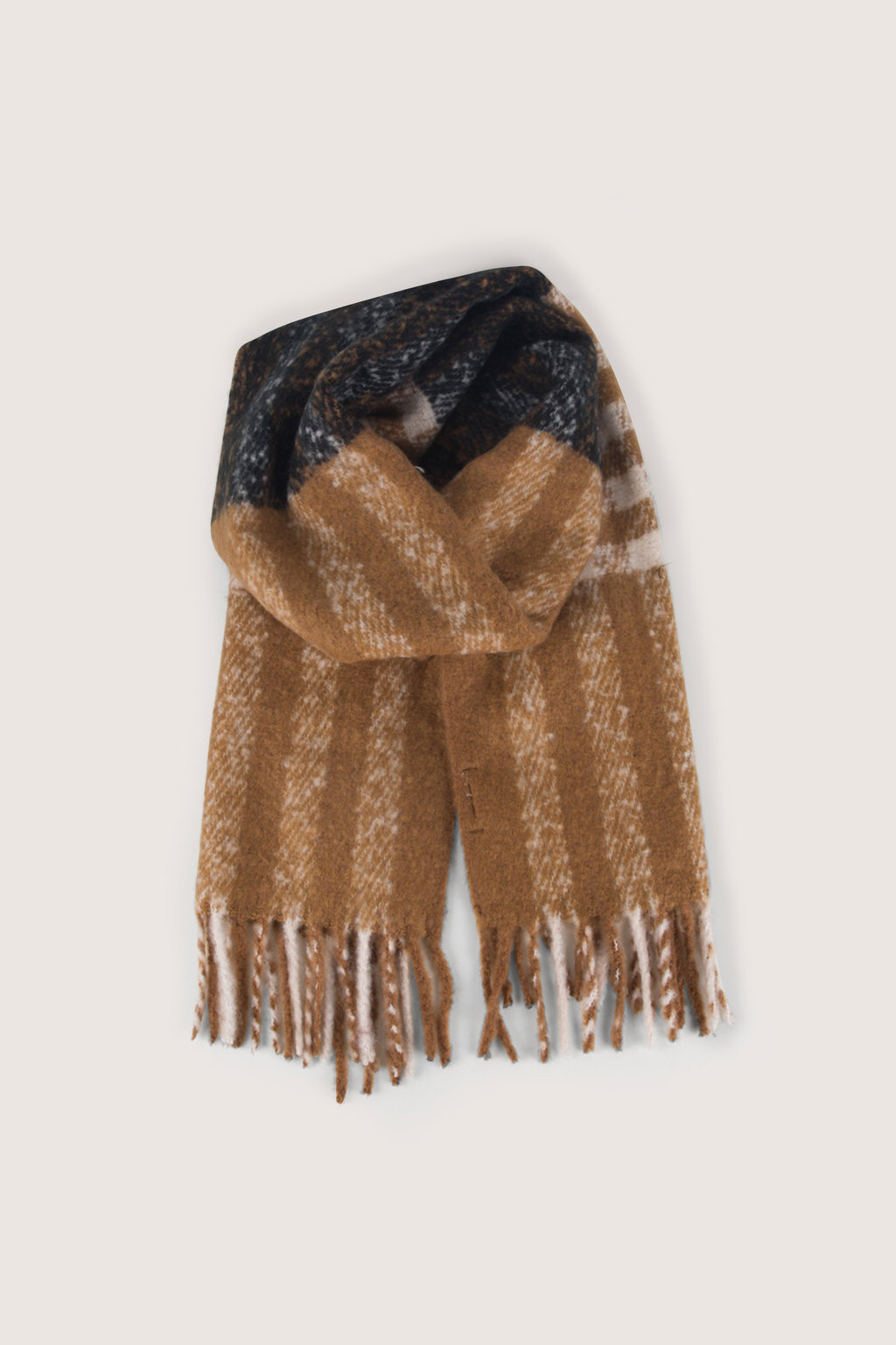 Scarf H066 Brown 1