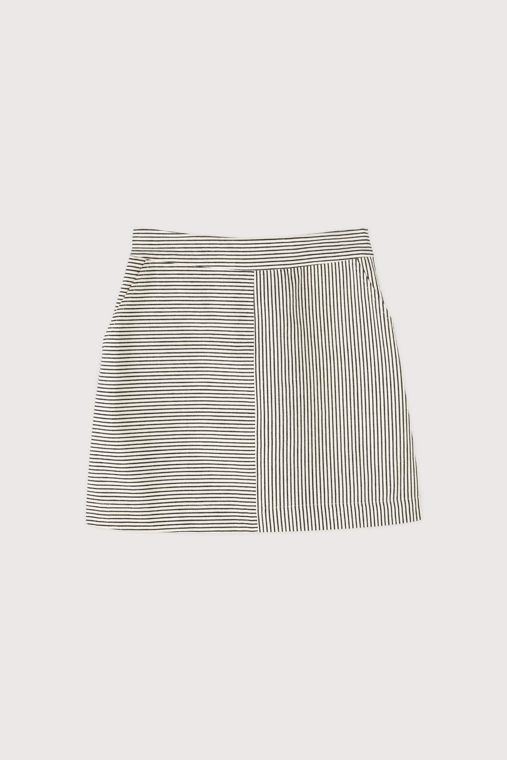 Skirt 3433 White Black Stripe 5