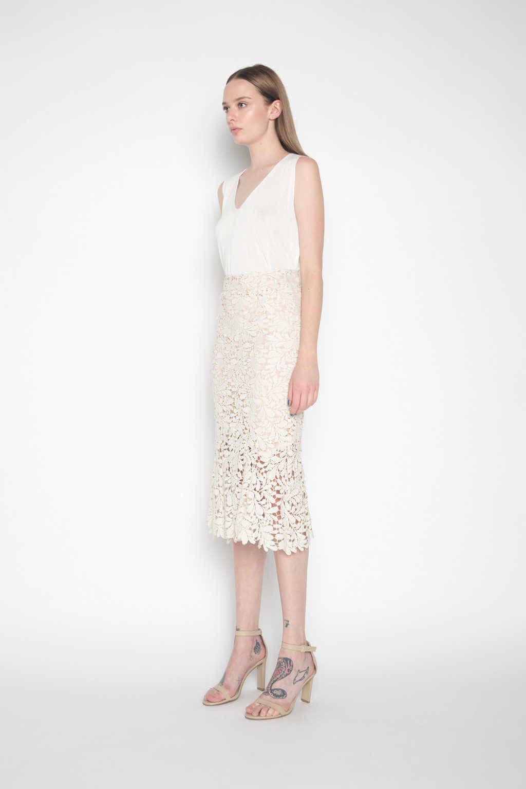 Skirt H044 Cream 3